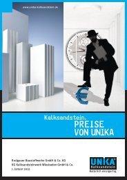 UNIKA Preisliste 2012 Rodgau