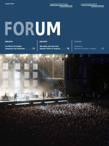JUBILÄUM Uni feierte mit Festakt, Symposium ... - CFO-Symposium