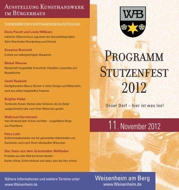 Programm Stutzenfest 2012 - Weisenheim am Berg
