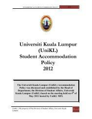 Universiti kuala lumpur accommodation policy and rules - mitec ...