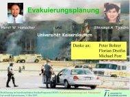 Evakuierungsplanung - Universität Kaiserslautern