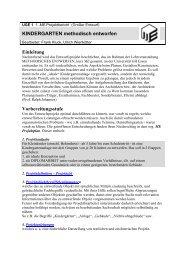 KINDERGARTEN methodisch entworfen ... - bei DuEPublico