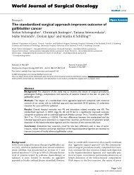 The standardized surgical approach improves outcome of ...