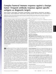 Complex humoral immune response against a benign tumor ...