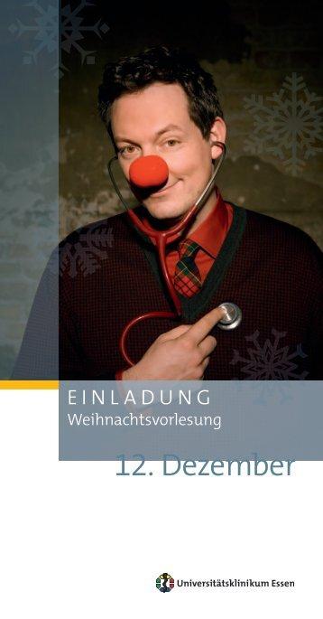Einladung Weihnachtsvorlesung - Universitätsklinikum Essen