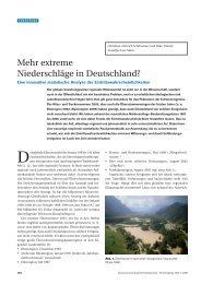 Mehr extreme Niederschläge in Deutschland?
