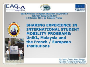 sharing experience in international student mobility ... - EACOVIROE