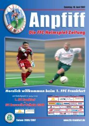 zum Bundesligaspiel (22. Spieltag/14 Uhr) - 1. FFC Frankfurt e.V.