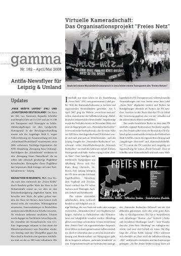 Antifa-Newsflyer für Leipzig & Umland Updates ... - Gamma - Noblogs