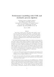 Performance modelling with UML and stochastic process algebras