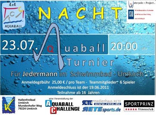Wir bieten euch nicht nur ein tolles Turnier sondern ... - Aquaball.de