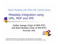 Metadata Integration using UML, MOF and XMI - Object ...
