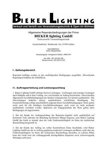 BIEKER lighting GmbH - Veranstaltungstechnik Bieker Lighting