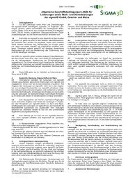 Allgemeine Geschäftsbedingungen (AGB) für ... - sigma3D GmbH