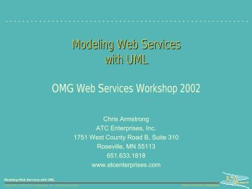 Modeling Web Services with UML