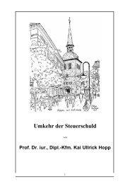 Umkehr der Steuerschuld - Prof. Dr. Hopp in Oldenburg