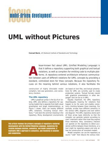 UML without Pictures - NIST - National Institute of Standards and ...