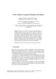 A UML Profile for Conceptual Modeling in GIS - Departamento de ...