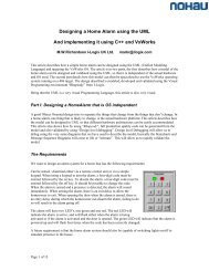 Designing a Home Alarm using the UML And implementing it using ...