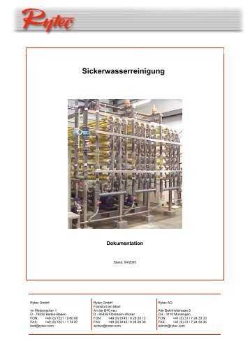 Deponiesickerwasserreinigung - Rytec
