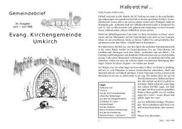 Evang. Kirchengemeinde Umkirch - Evangelische Kirchengemeinde ...