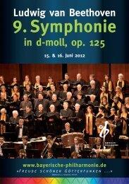 Symphonie Nr. 9 d-moll, op. 125 - Bayerische Philharmonie eV