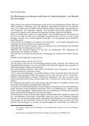 Zur Bedeutung von Literatur und Kunst in ... - beate-jonscher