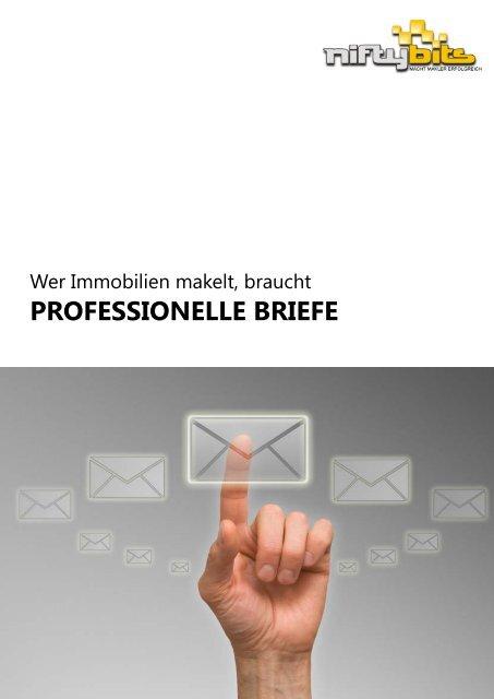 Info-Broschüre laden - Musterbriefe für Immobilienmakler