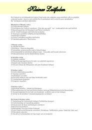 Leitfaden und Checkliste - Waldhaus Oelper