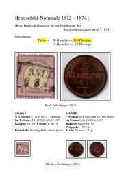 Brustschild-Nominale 1872 – 1874 :