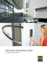 Hörmann Neuheiten 2009 - Hörmann KG