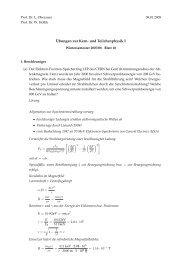 ¨Ubungen zur Kern- und Teilchenphysik I