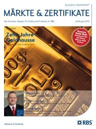 Juli/August 2012 - The Royal Bank of Scotland plc - Switzerland