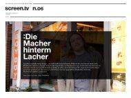 Titel - Die Macher hinterm Lacher - das online-magazin für bewegtbild