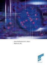 Geschäftsbericht 2002 Aditron AG - Rheinmetall AG