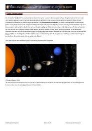 Einfuehrung Sonnensystem - Eldern Star Observatory 47° 55 ...