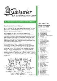 Subkurier zur Wahl 2009 - Freie Grüne Liste Konstanz