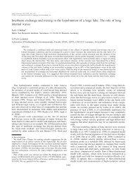 Umlauf, Lars, and Ulrich Lemmin. Interbasin exchange and ... - ASLO