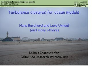 Turbulence closures for ocean models - lseet