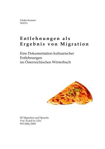 Entlehnungen als Ergebnis von Migration. Eine Dokumentation ...