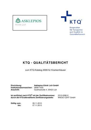 KTQ Qualitätsbericht Asklepios Klinik Lich