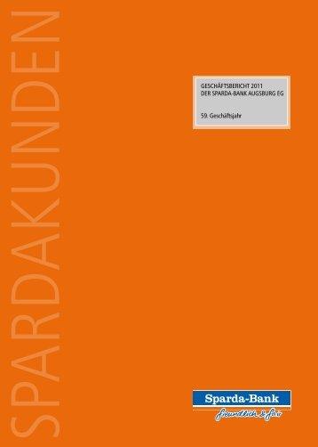Unser Geschäftsbericht 2011 - Sparda-Bank Augsburg eG