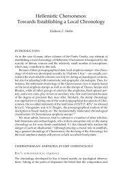 Towards Establishing a Local Chronology - Centre for Black Sea ...