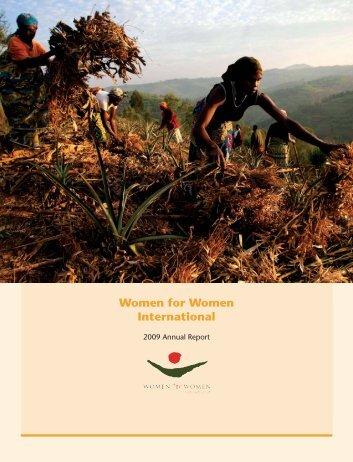 2009 Annual Report - Women for Women International