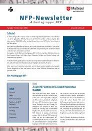Newsletter 01/2008 - Arbeitsgruppe NFP