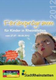 Ferienbroschüre 2012 - Stadt Rheinstetten