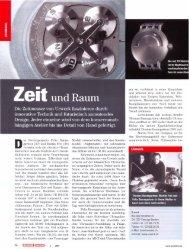 Das Zweiergespann Felix Baum- gartner (29) und Martin ... - Urwerk