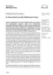 Dr. René Umlauft new CEO of MAN Diesel & Turbo