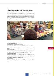 Arbeitsmaterial - Schulische Gewaltprävention