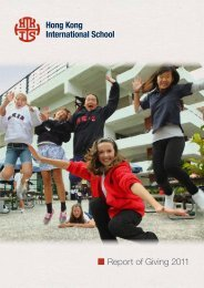 Report of Giving 2011 - DragonNet - Hong Kong International School
